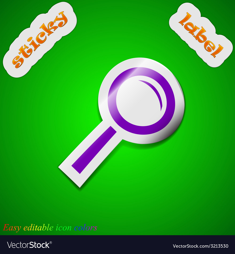 Magnifier glass zoom search icon sign symbol chic vector | Price: 1 Credit (USD $1)