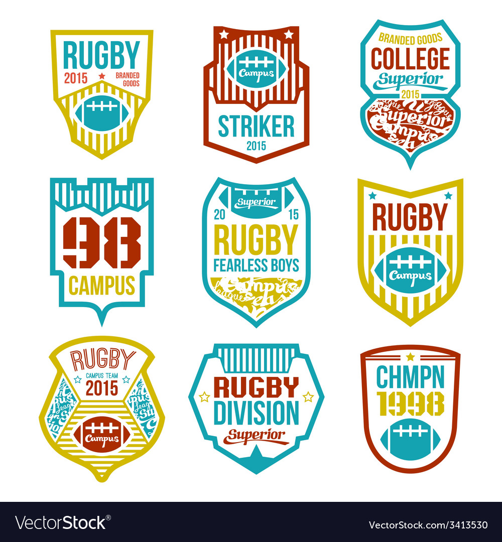 Rugby emblems vector | Price: 1 Credit (USD $1)