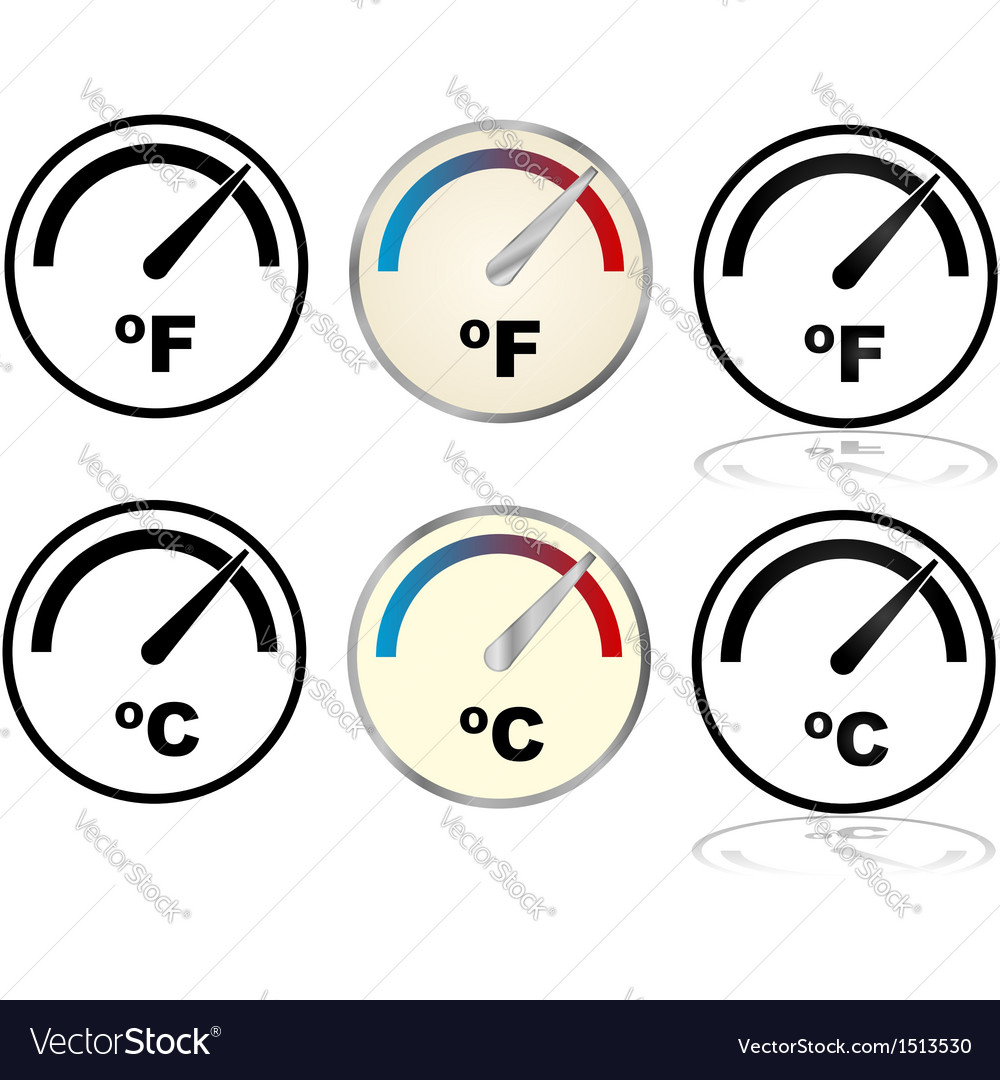 Temperature gauges vector | Price: 1 Credit (USD $1)