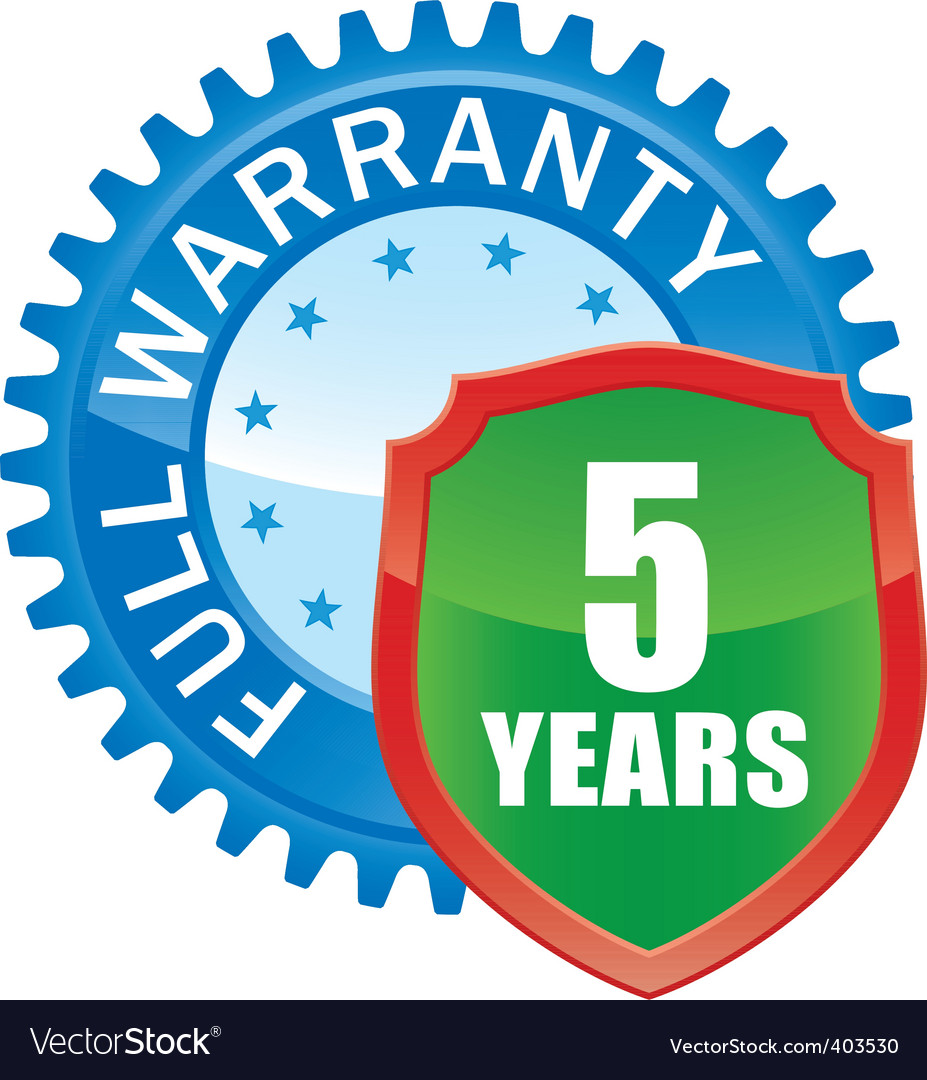 Warranty glossy icon vector | Price: 1 Credit (USD $1)