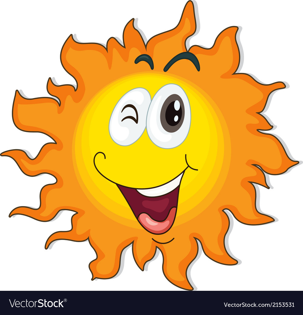 A happy sun vector | Price: 1 Credit (USD $1)