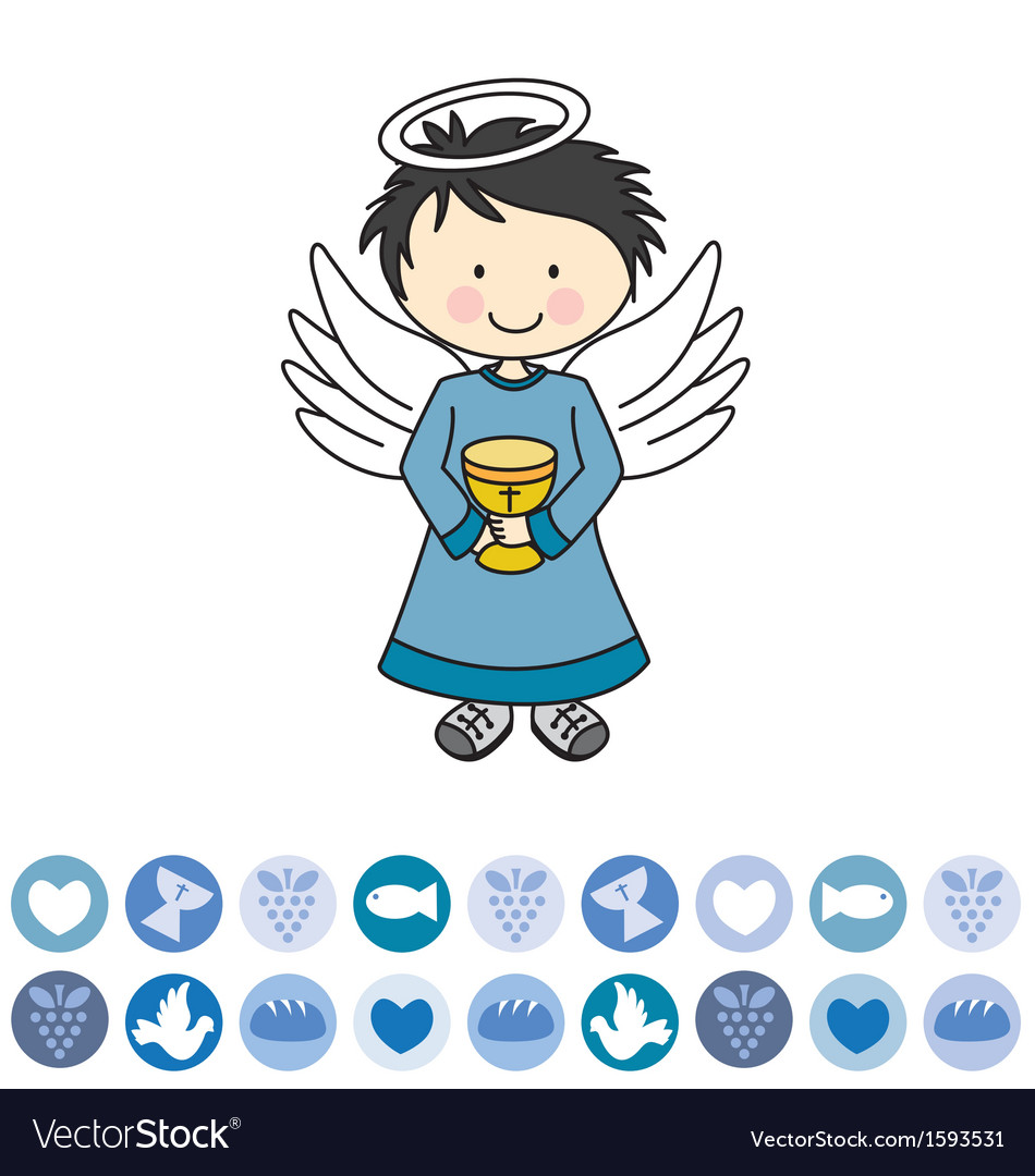 Angel with a chalice vector | Price: 1 Credit (USD $1)