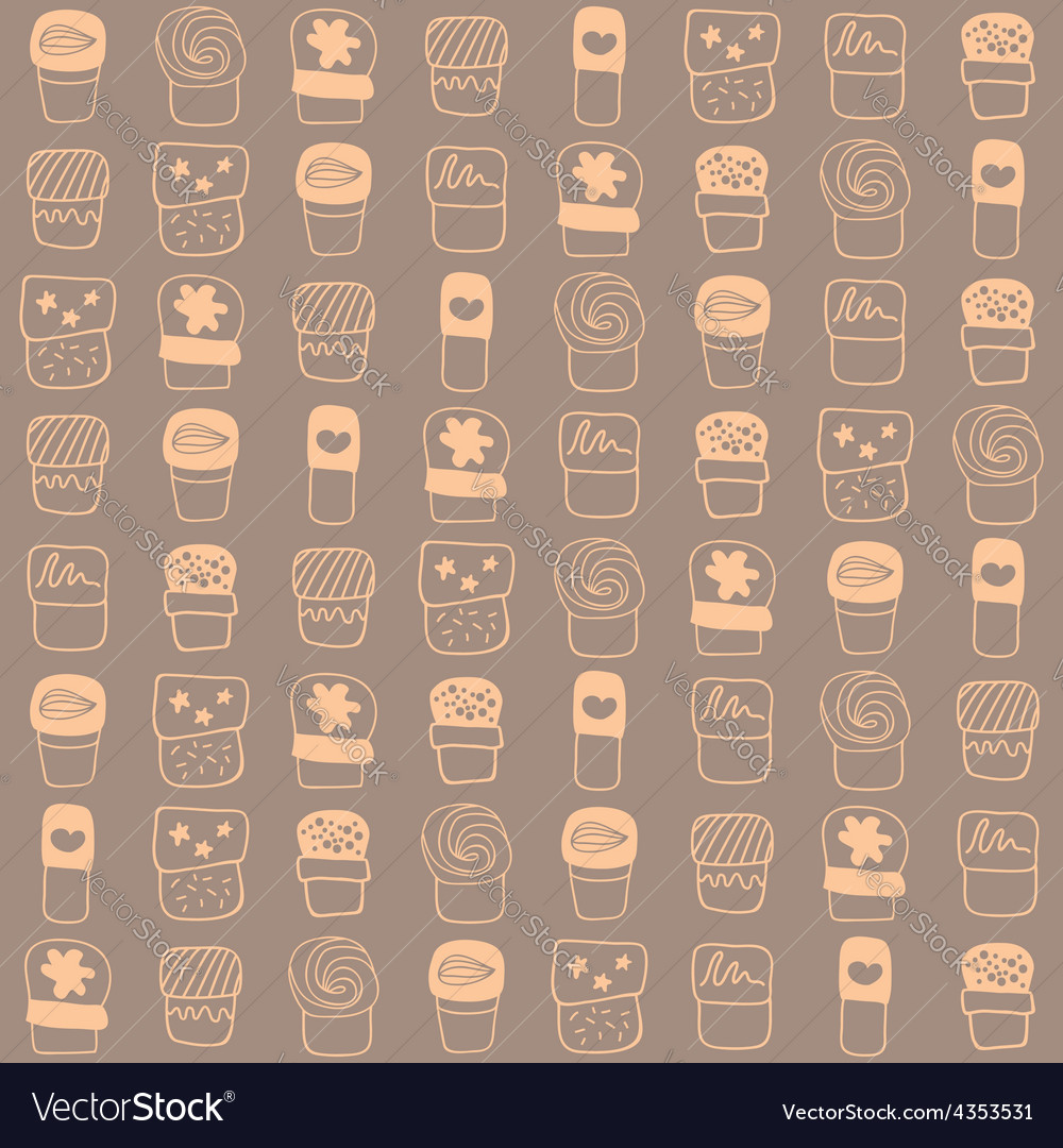 Background with sweets for cook books or wrapping vector | Price: 1 Credit (USD $1)