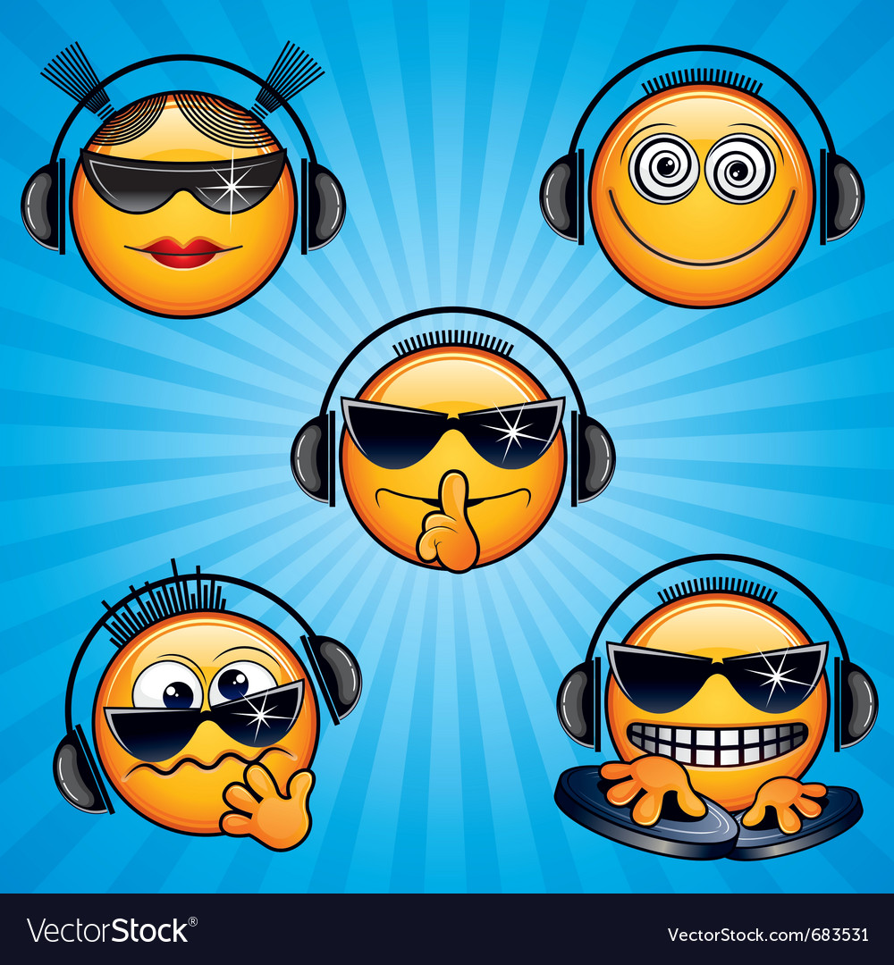 Dj icons vector | Price: 1 Credit (USD $1)