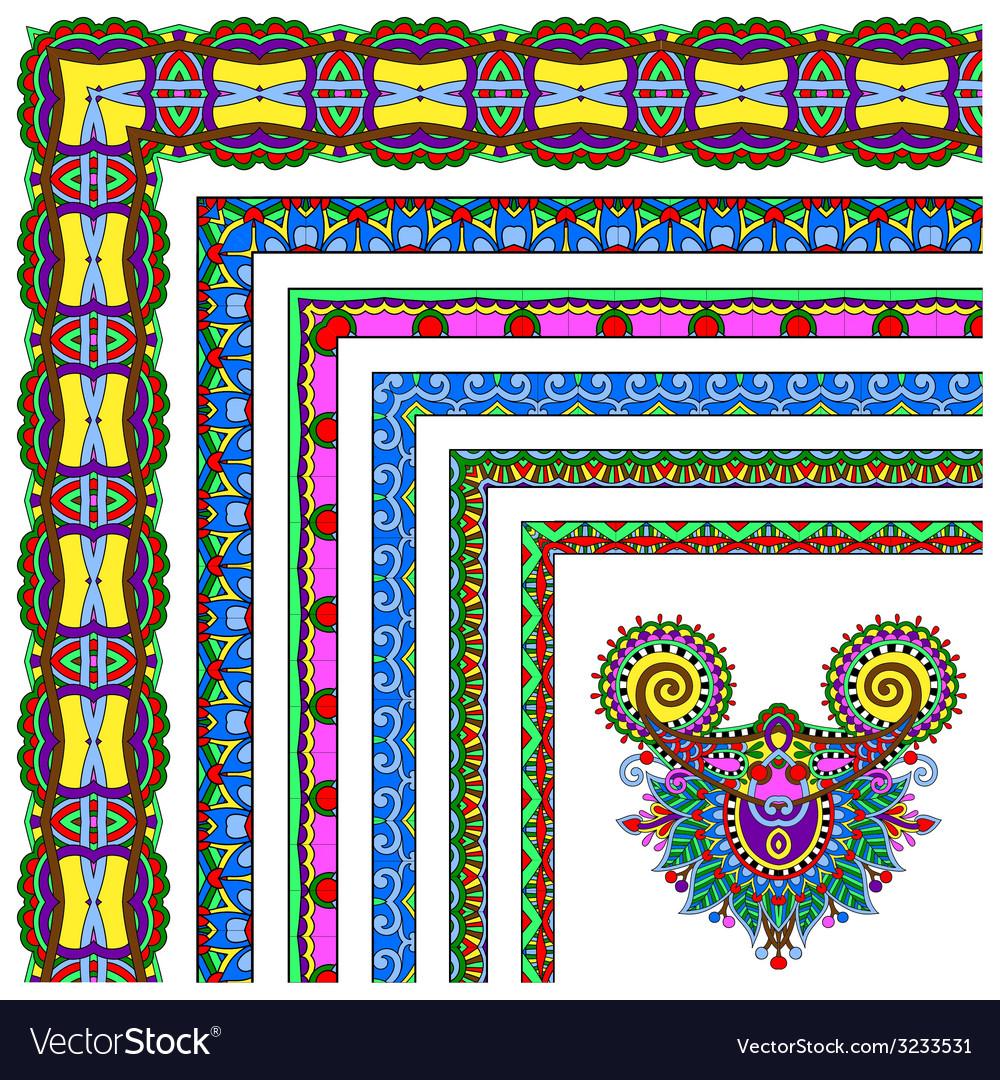 Floral vintage frame design set vector   Price: 1 Credit (USD $1)