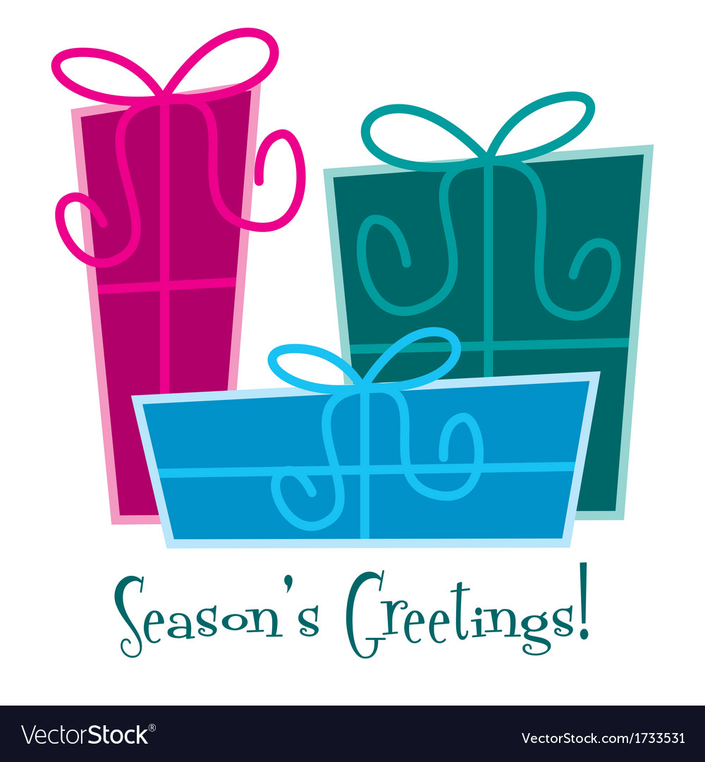 Funky gift christmas card in format vector | Price: 1 Credit (USD $1)