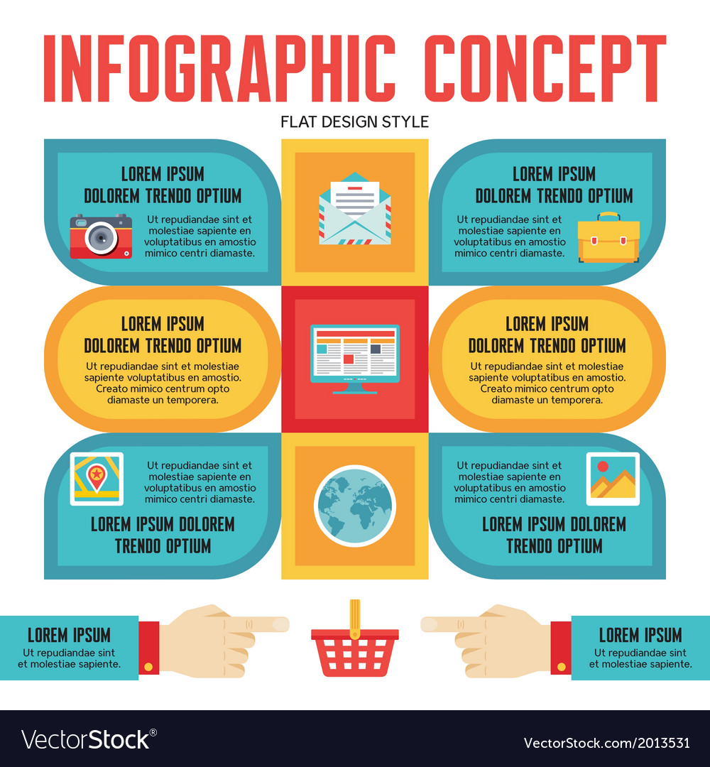 Infographic concept for presentation vector | Price: 1 Credit (USD $1)
