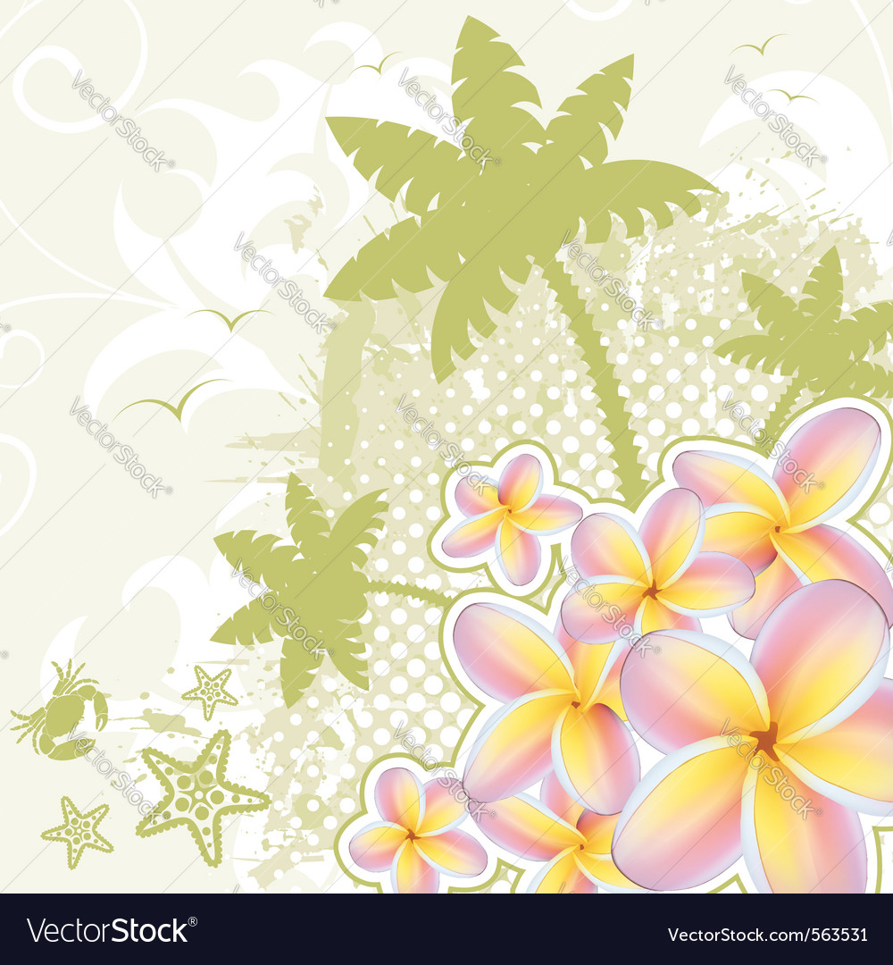 Palm tree background vector | Price: 1 Credit (USD $1)