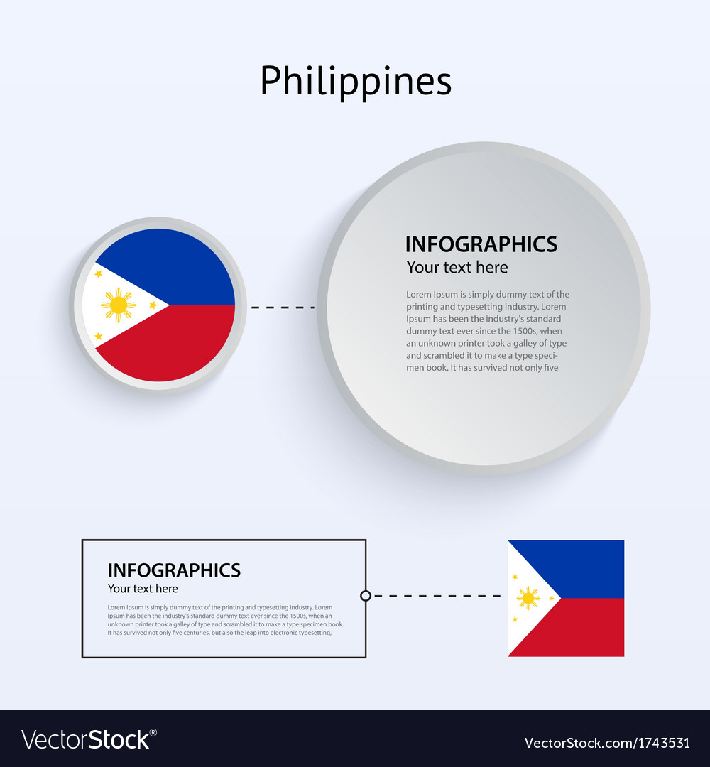 Philippines country set of banners vector | Price: 1 Credit (USD $1)