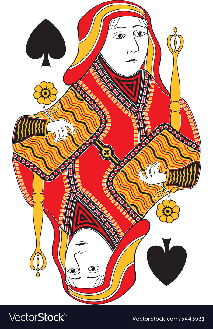 Queen of spades no card vector | Price: 1 Credit (USD $1)