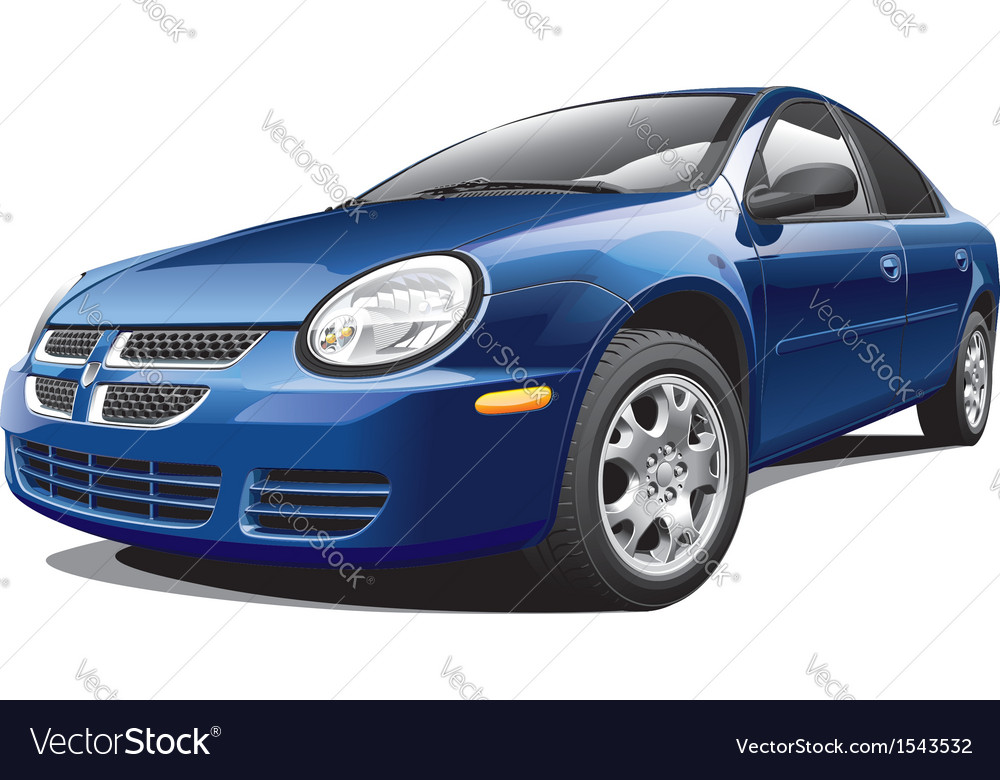 American four door sedan vector | Price: 5 Credit (USD $5)