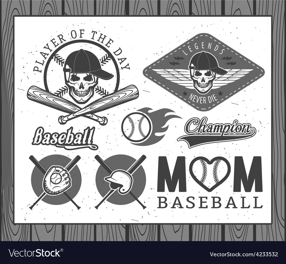 Baseball labels and badges vector | Price: 1 Credit (USD $1)