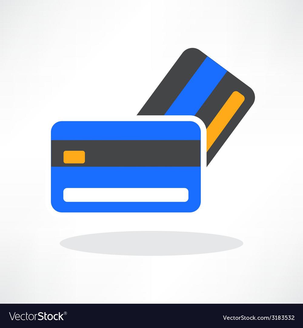 Credit cards icon design element vector | Price: 1 Credit (USD $1)