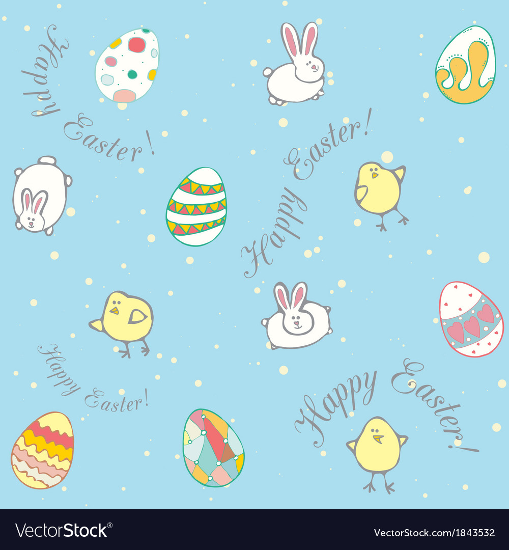 Easter background pattern vector | Price: 1 Credit (USD $1)