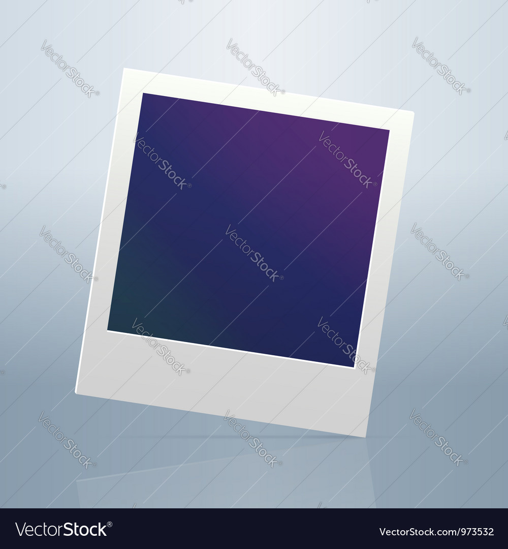 Instant blanc photo frame vector | Price: 1 Credit (USD $1)