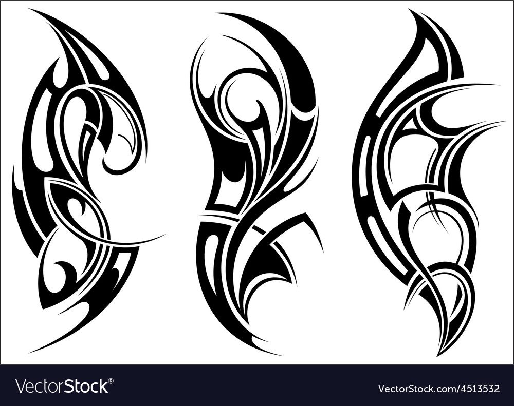 Maori styled tattoo pattern for a shoulder vector | Price: 1 Credit (USD $1)