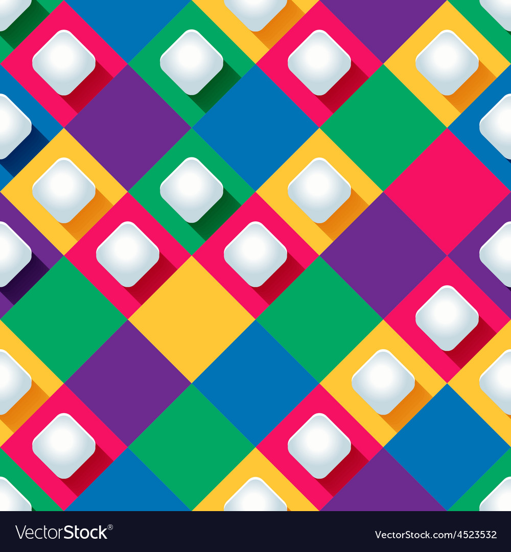 Seamless pattern from paper rhombus on a colored vector | Price: 1 Credit (USD $1)