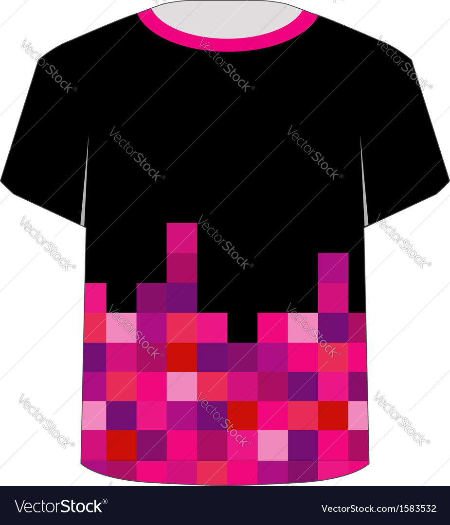 T shirt template- pixel art vector | Price: 1 Credit (USD $1)
