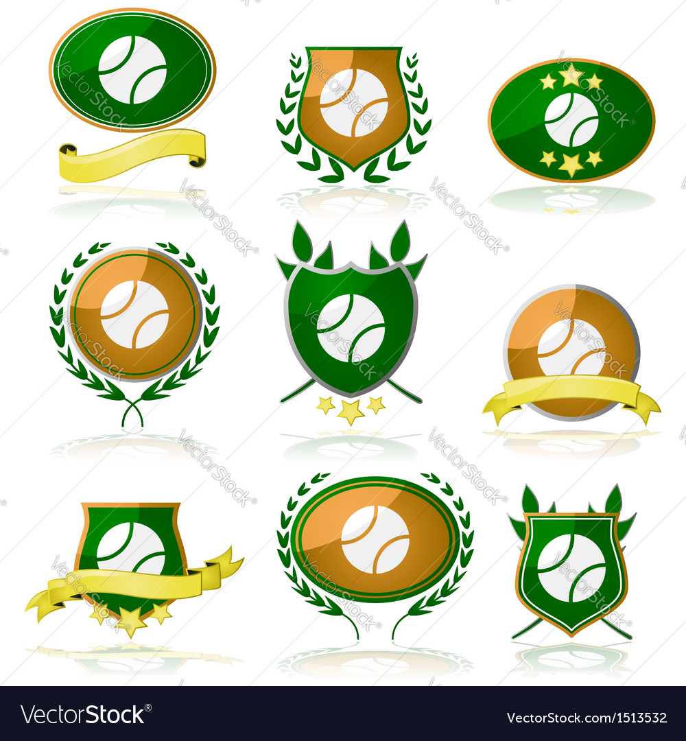 Tennis badges vector | Price: 1 Credit (USD $1)
