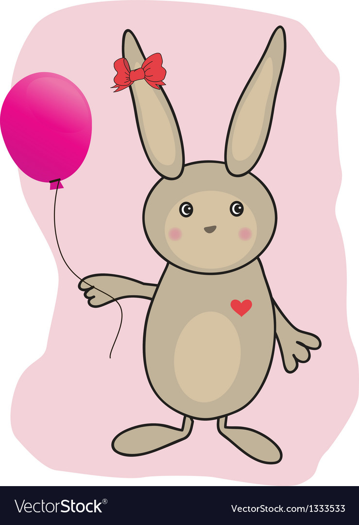 Abstract cartoon easter card with cute bunny vector | Price: 1 Credit (USD $1)