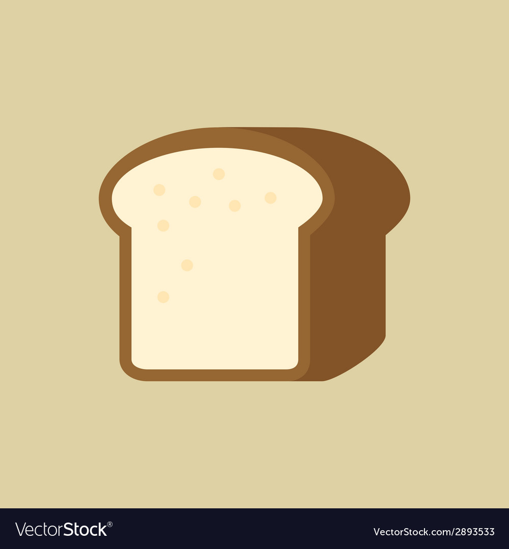 Bread food flat icon vector | Price: 1 Credit (USD $1)