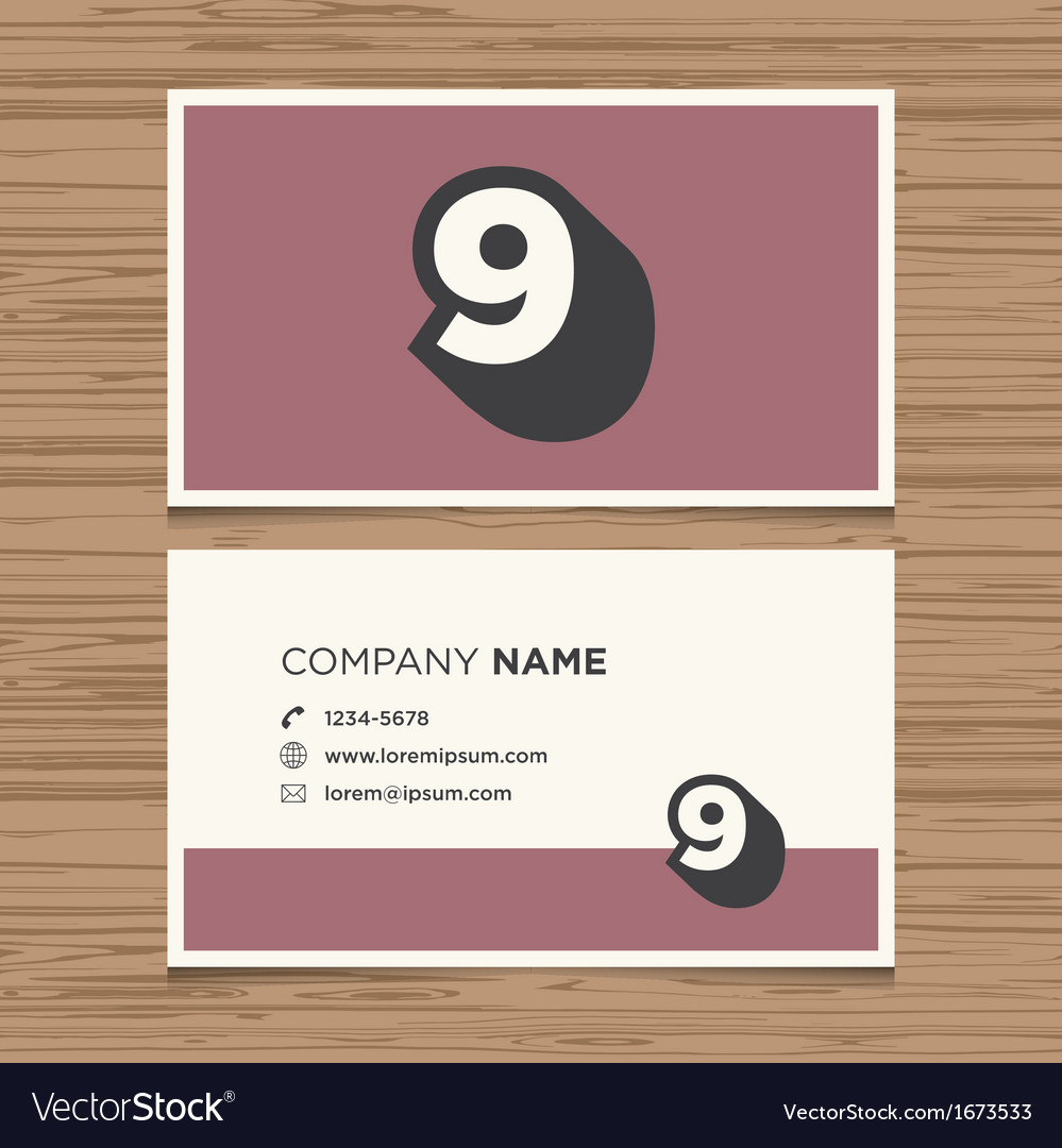 Business card number 9 vector | Price: 1 Credit (USD $1)