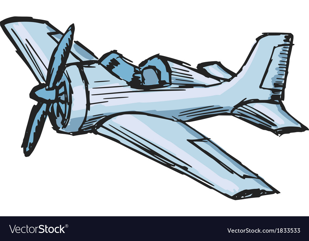 Cartoon airplane vector | Price: 1 Credit (USD $1)