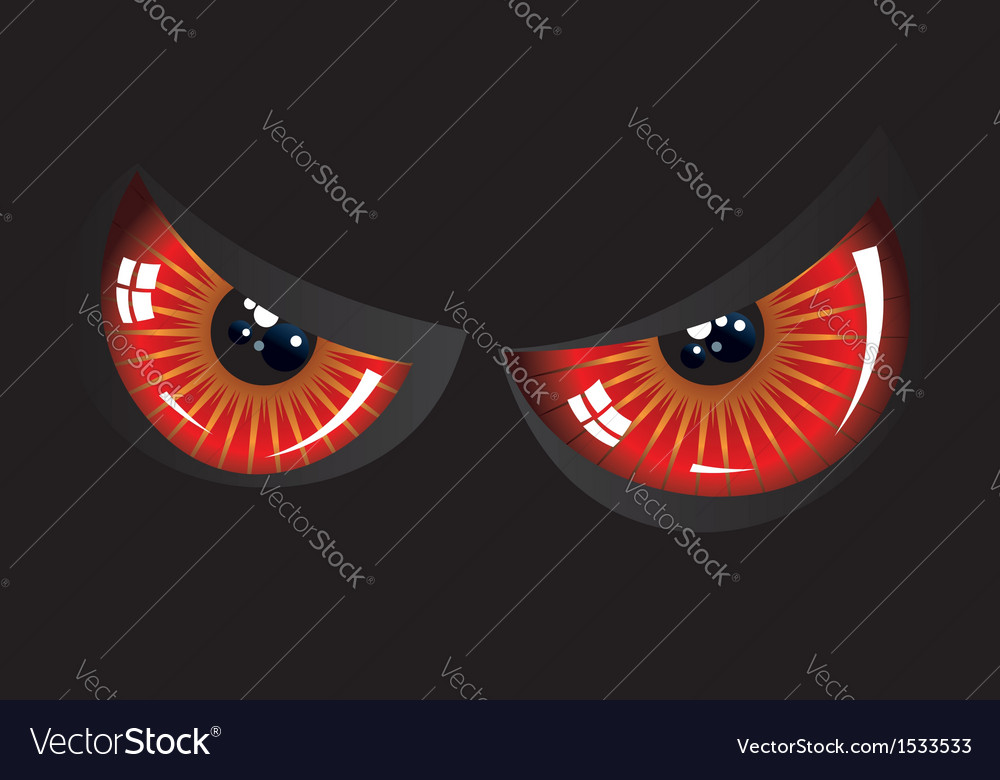Evil red eyes vector | Price: 1 Credit (USD $1)