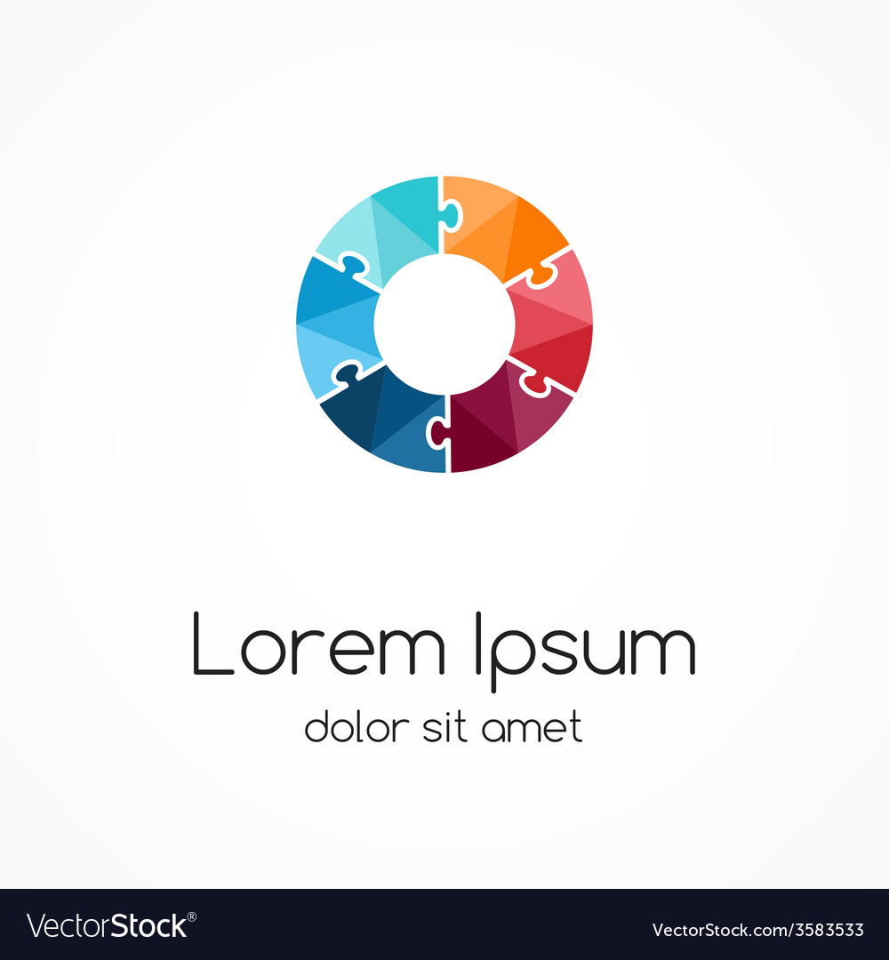 Logo puzzle template abstract circle creative sign vector   Price: 1 Credit (USD $1)