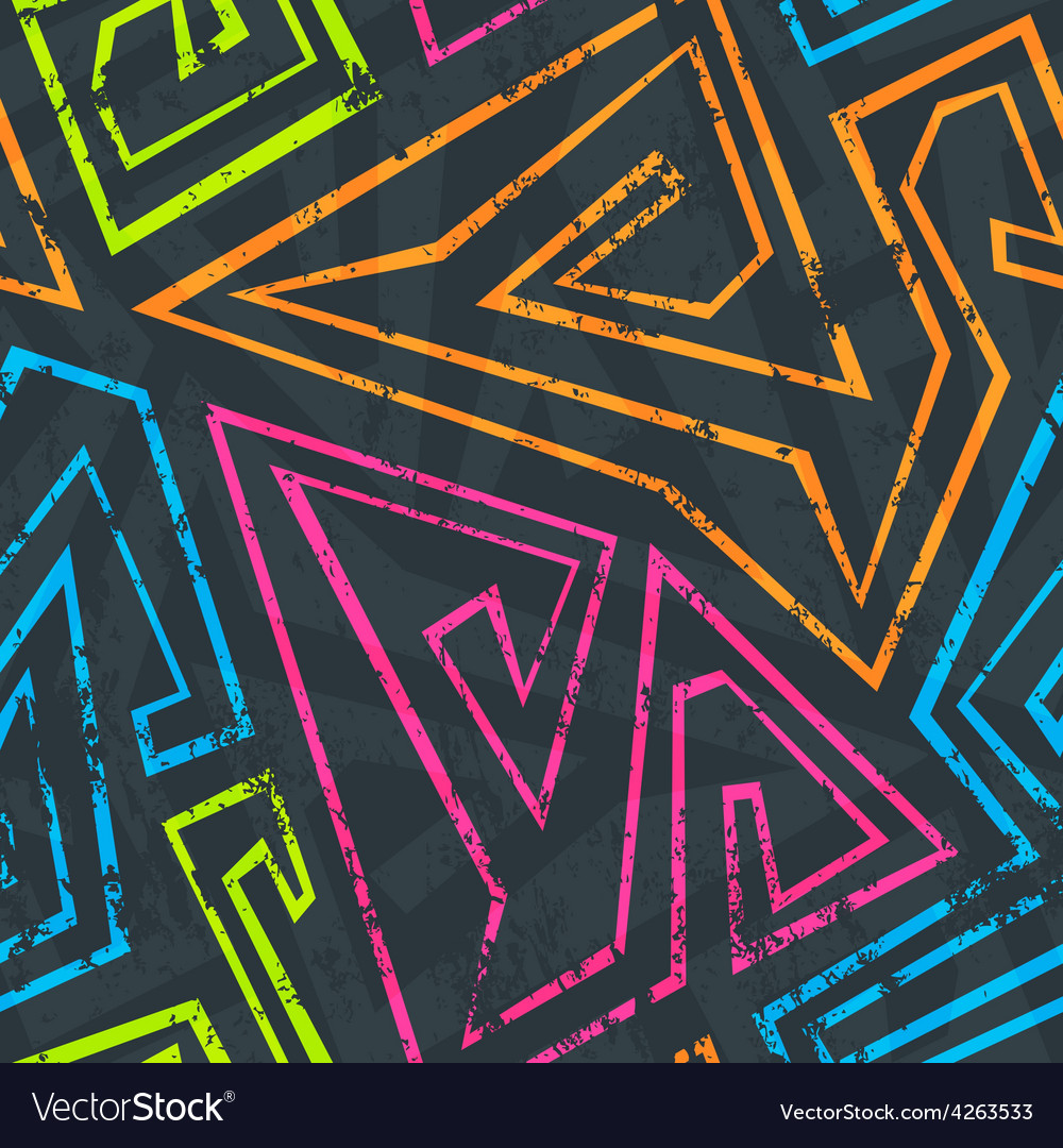 Neon seamless pattern vector | Price: 1 Credit (USD $1)
