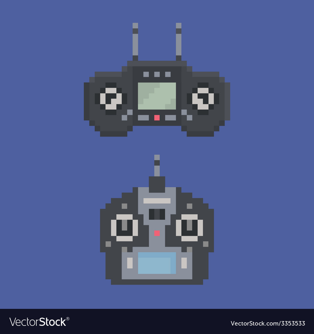 Pixel art style of remote control radio controller vector | Price: 1 Credit (USD $1)