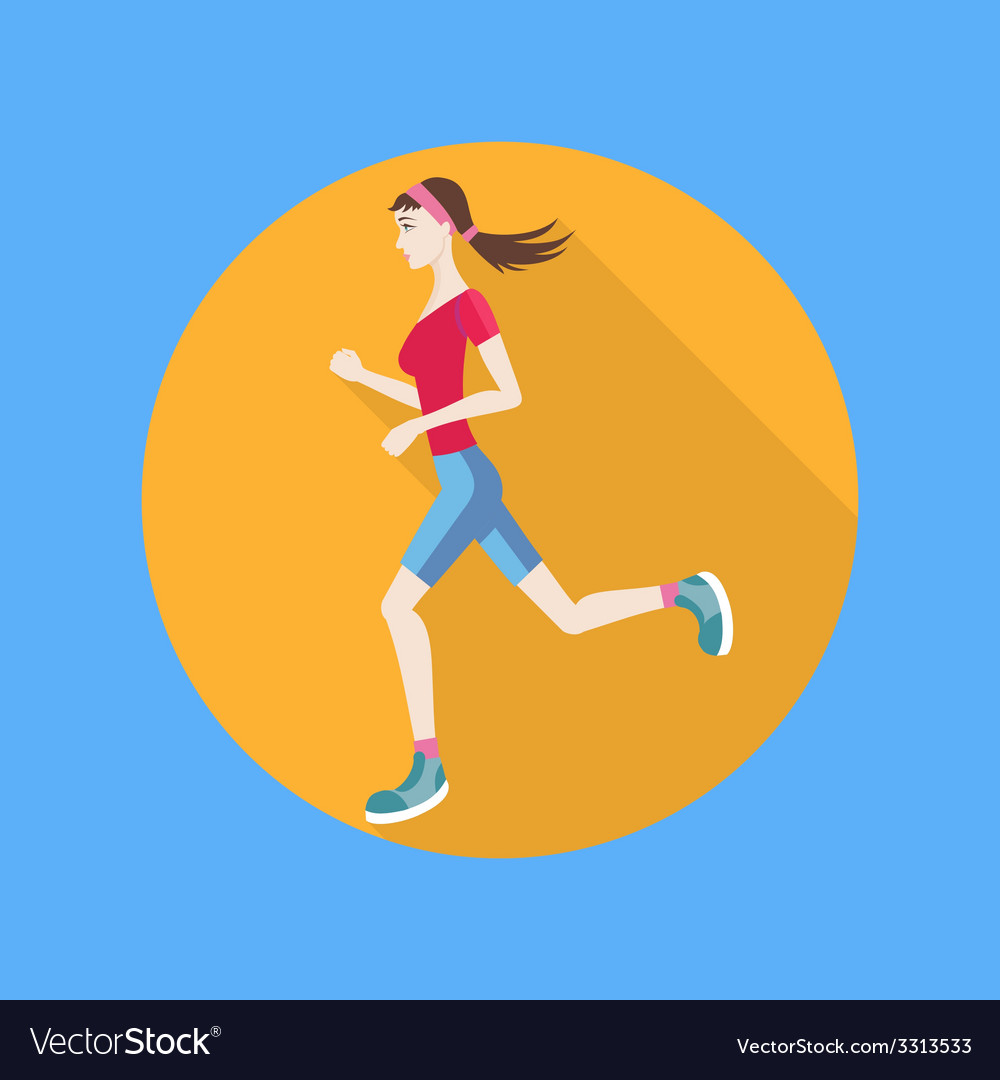 Running woman vector | Price: 1 Credit (USD $1)