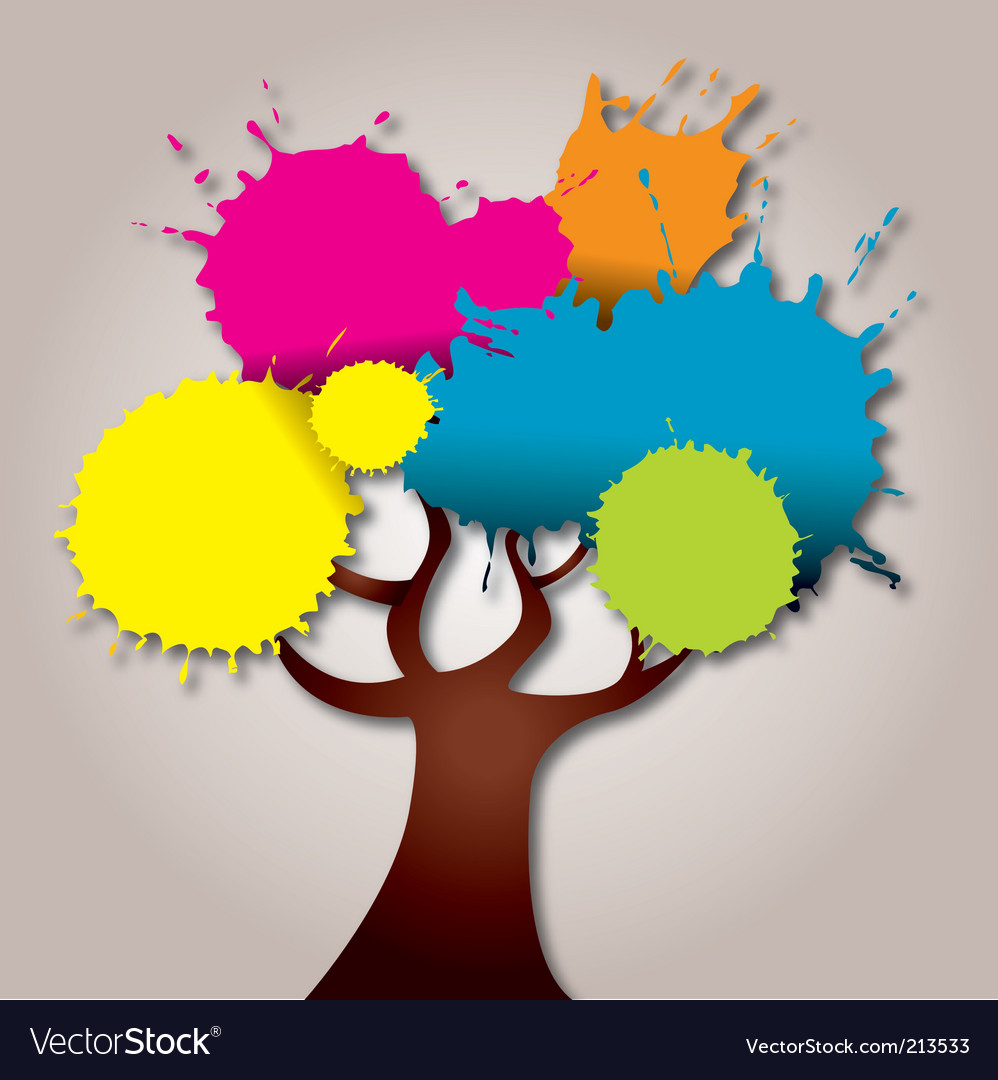 Splat tree vector | Price: 1 Credit (USD $1)