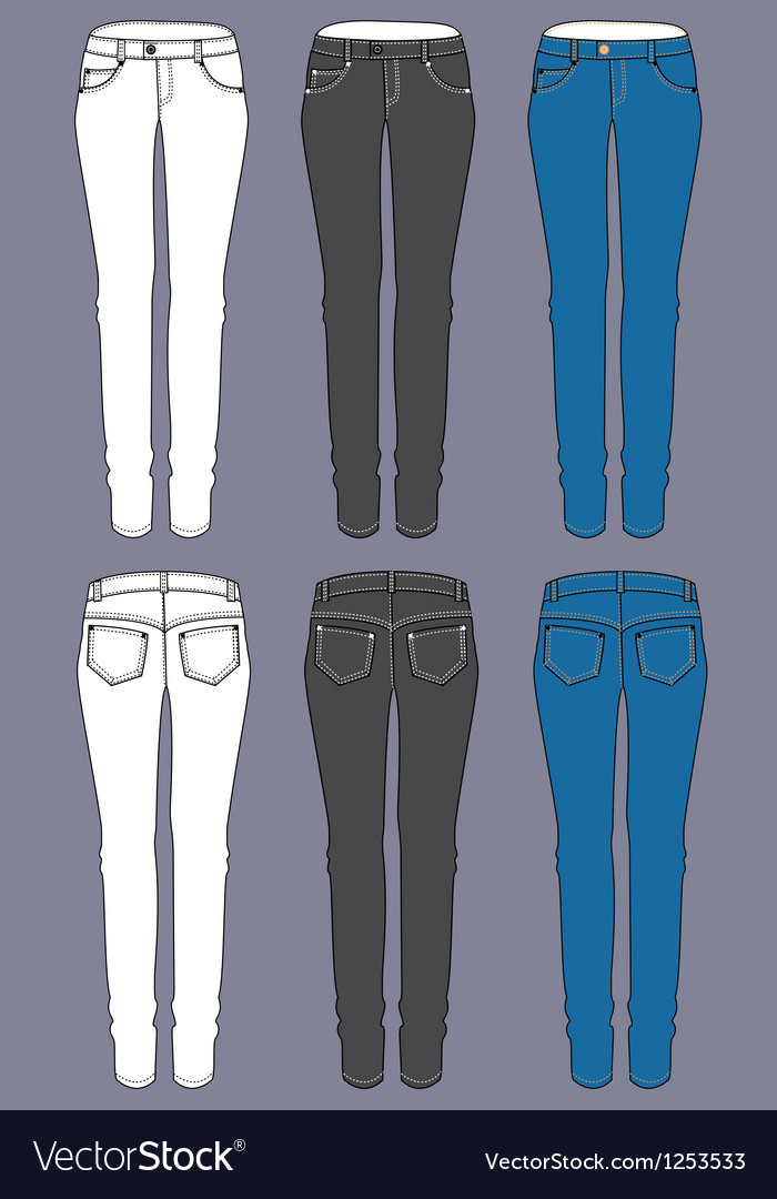 Woman jeans vector   Price: 1 Credit (USD $1)