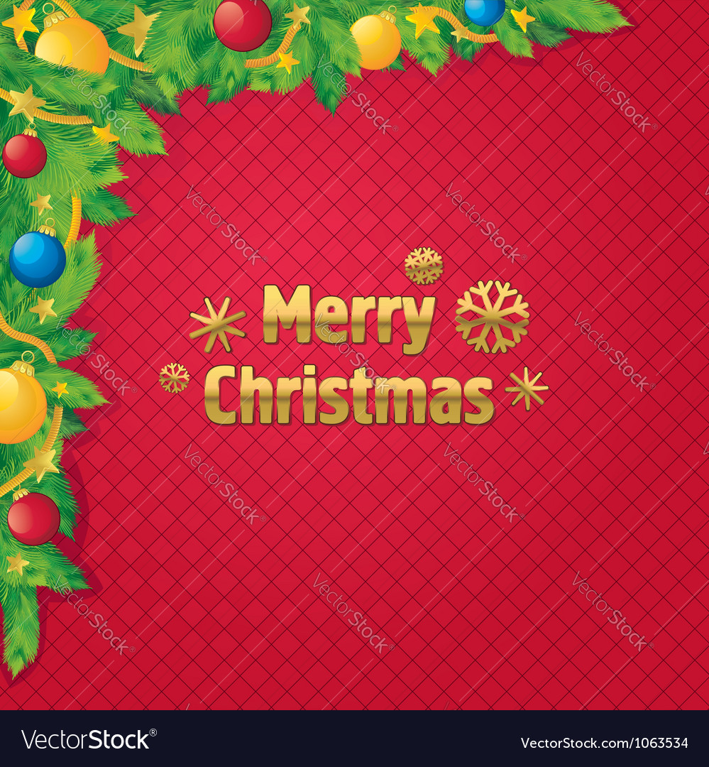 Background christmas tree decoration vector | Price: 1 Credit (USD $1)