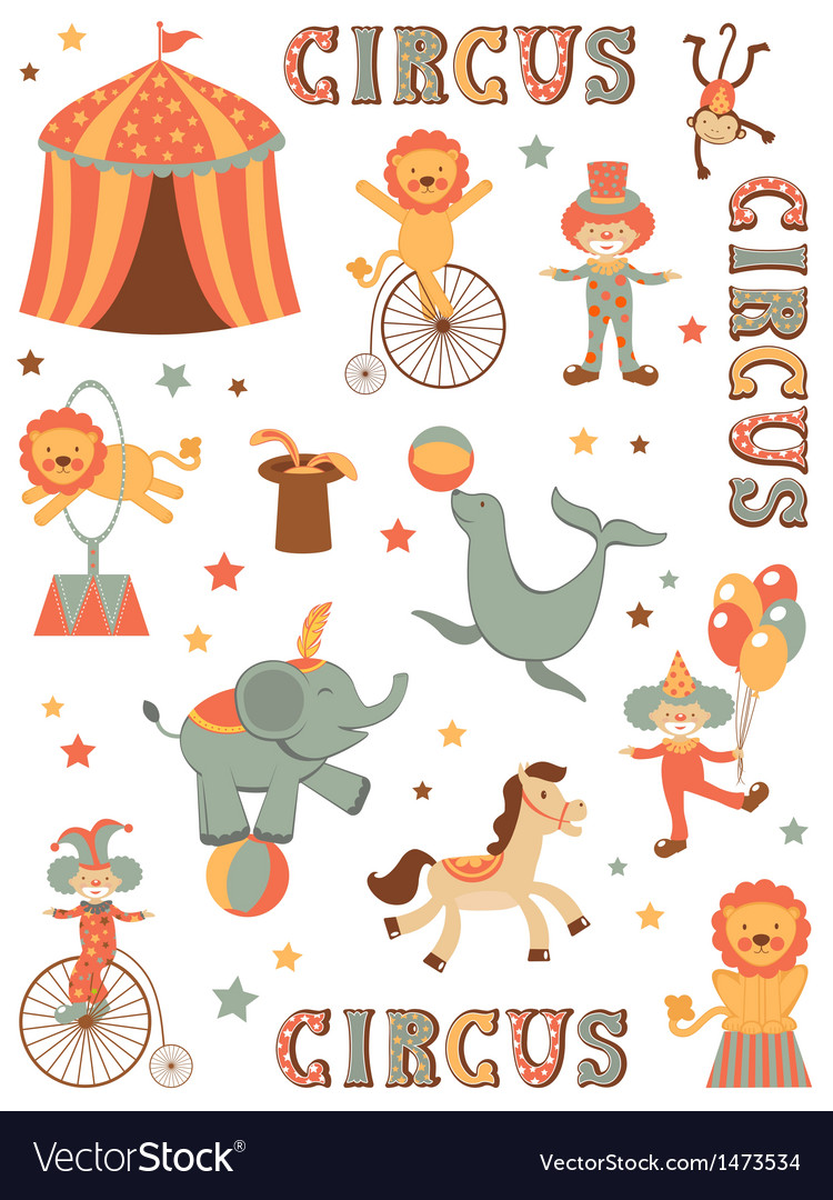 Circus in town vector | Price: 3 Credit (USD $3)