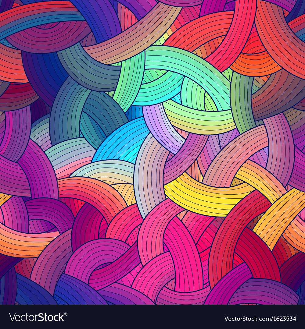 Colorful seamless stripes background rainbow vector | Price: 1 Credit (USD $1)