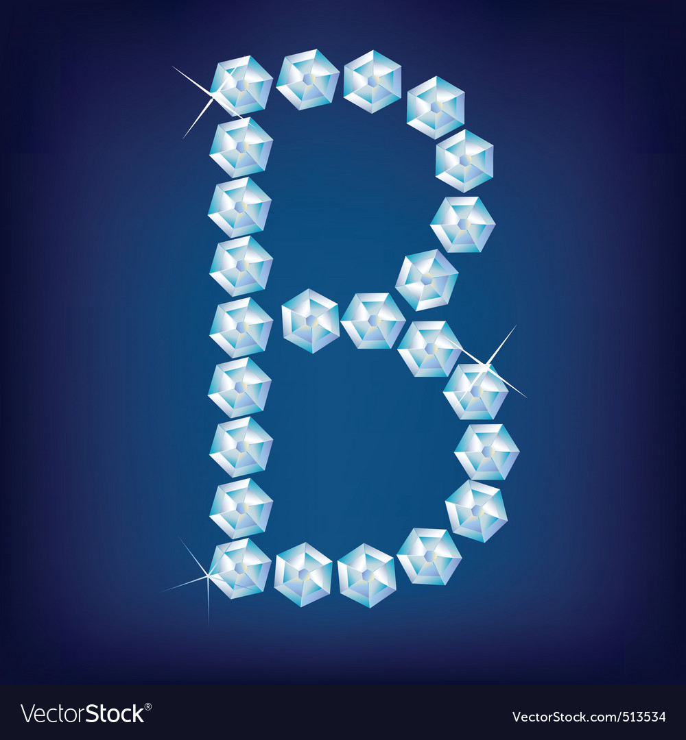 diamond alphabet letter b vector | Price: 1 Credit (USD $1)