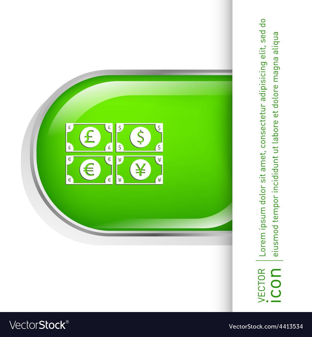 Money bill symbol icon dollar pound sterling vector | Price: 1 Credit (USD $1)