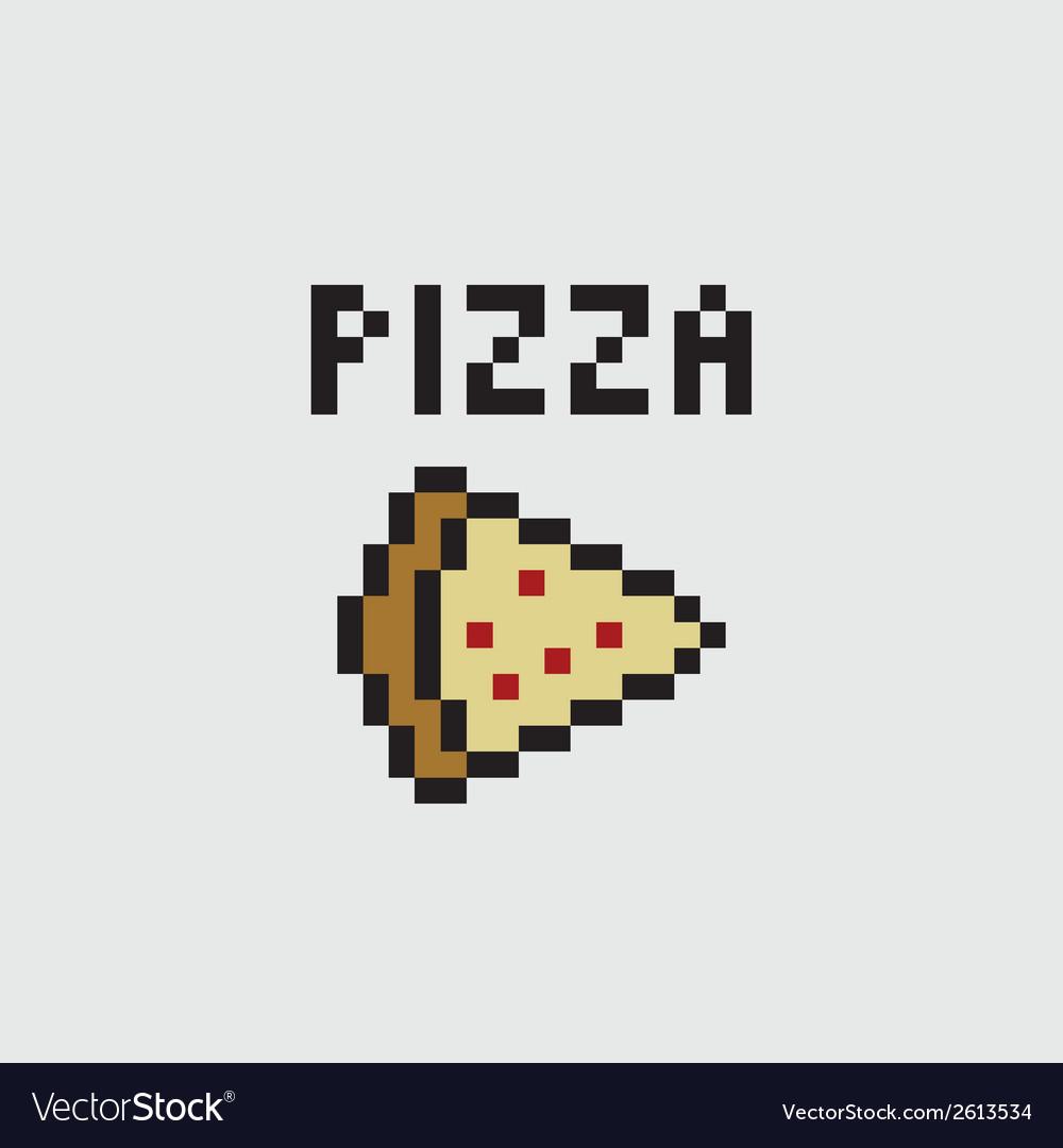 Pixel pizza vector | Price: 1 Credit (USD $1)