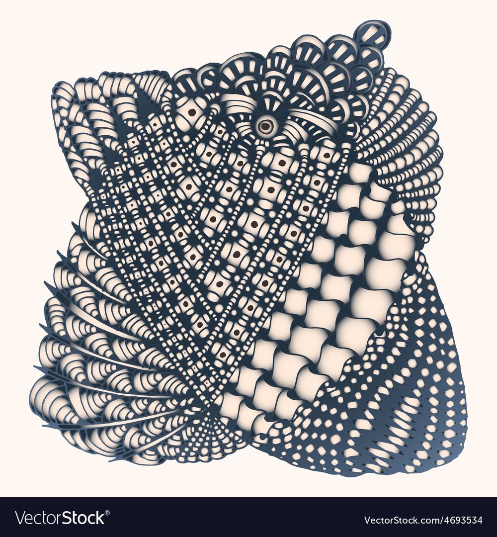 Zentangle vector | Price: 1 Credit (USD $1)