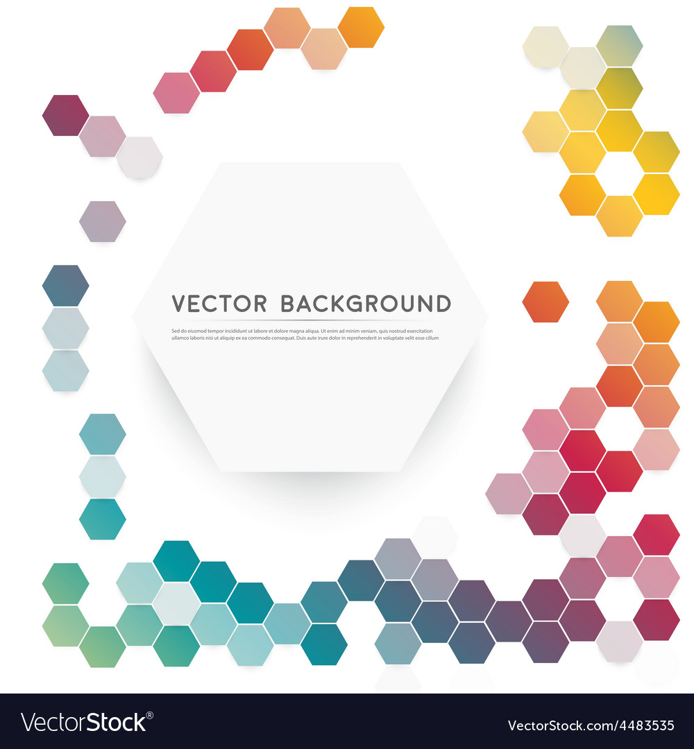 Abstract color 3d hexagonal vector   Price: 1 Credit (USD $1)
