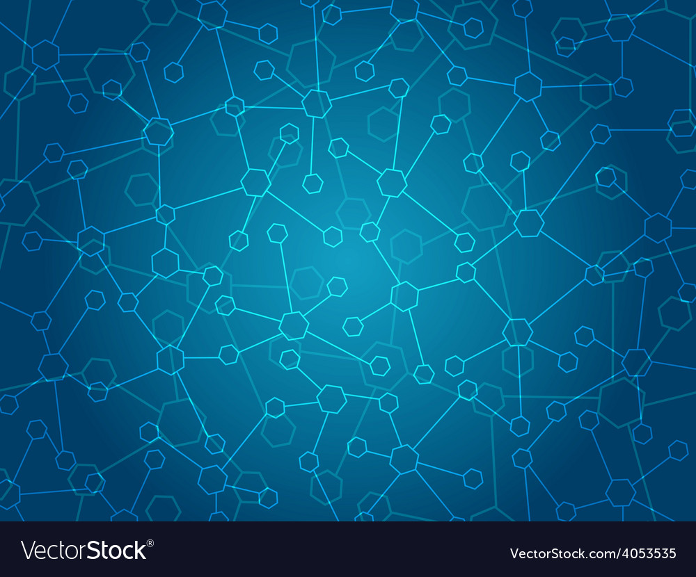 Abstract molecules medical background vector | Price: 1 Credit (USD $1)