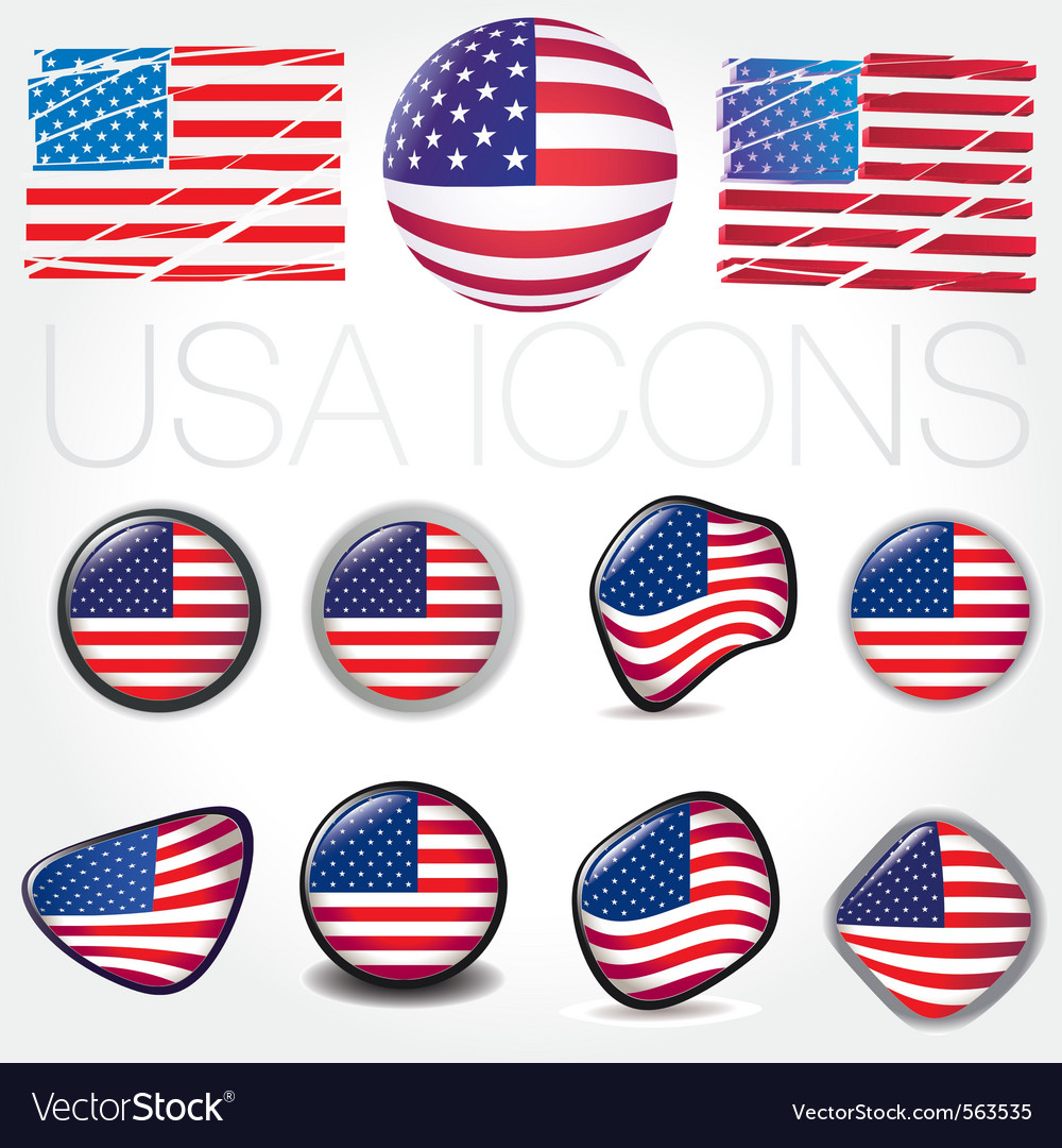American flag symbols vector | Price: 1 Credit (USD $1)