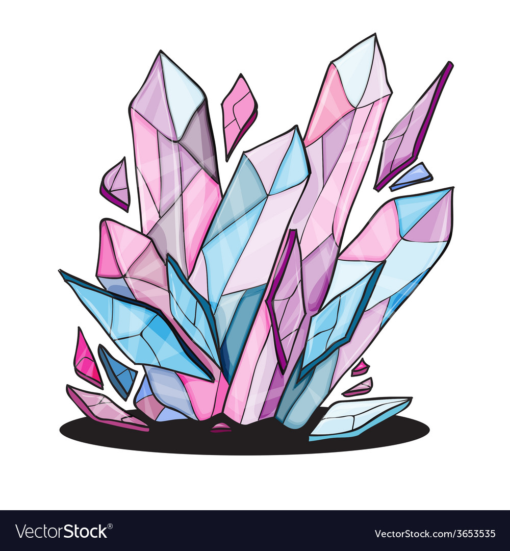 Beautiful crystal stones for design vector | Price: 1 Credit (USD $1)