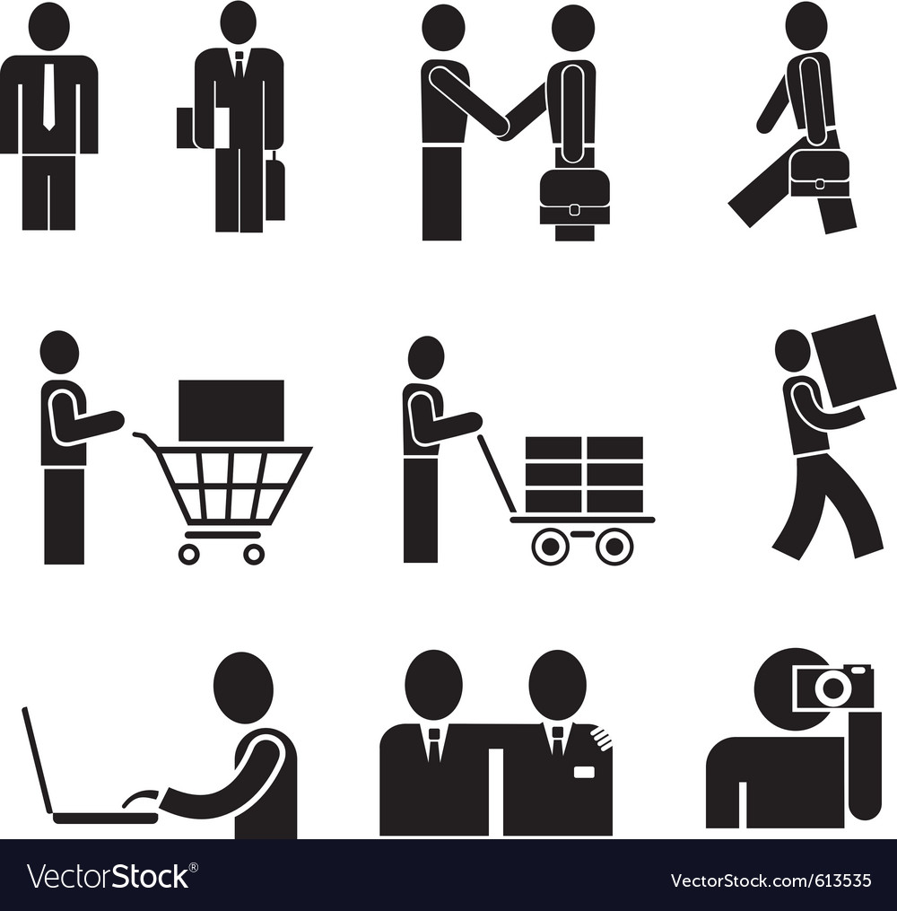 Business people vector | Price: 3 Credit (USD $3)