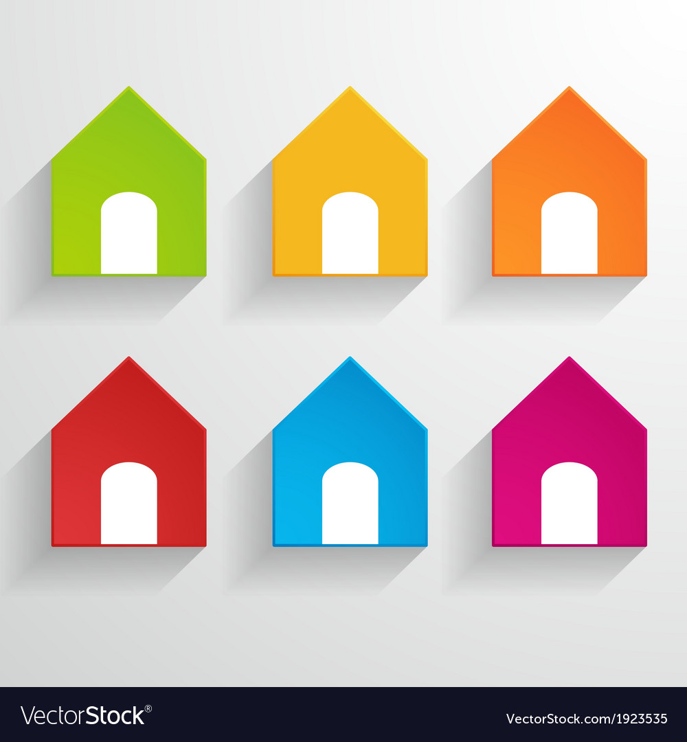 House icons vector   Price: 1 Credit (USD $1)
