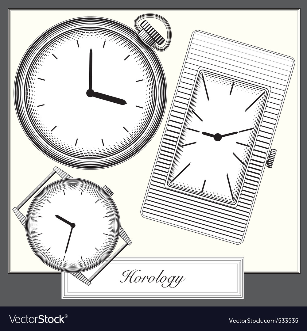 Ing style picture watches collection vector vector | Price: 1 Credit (USD $1)