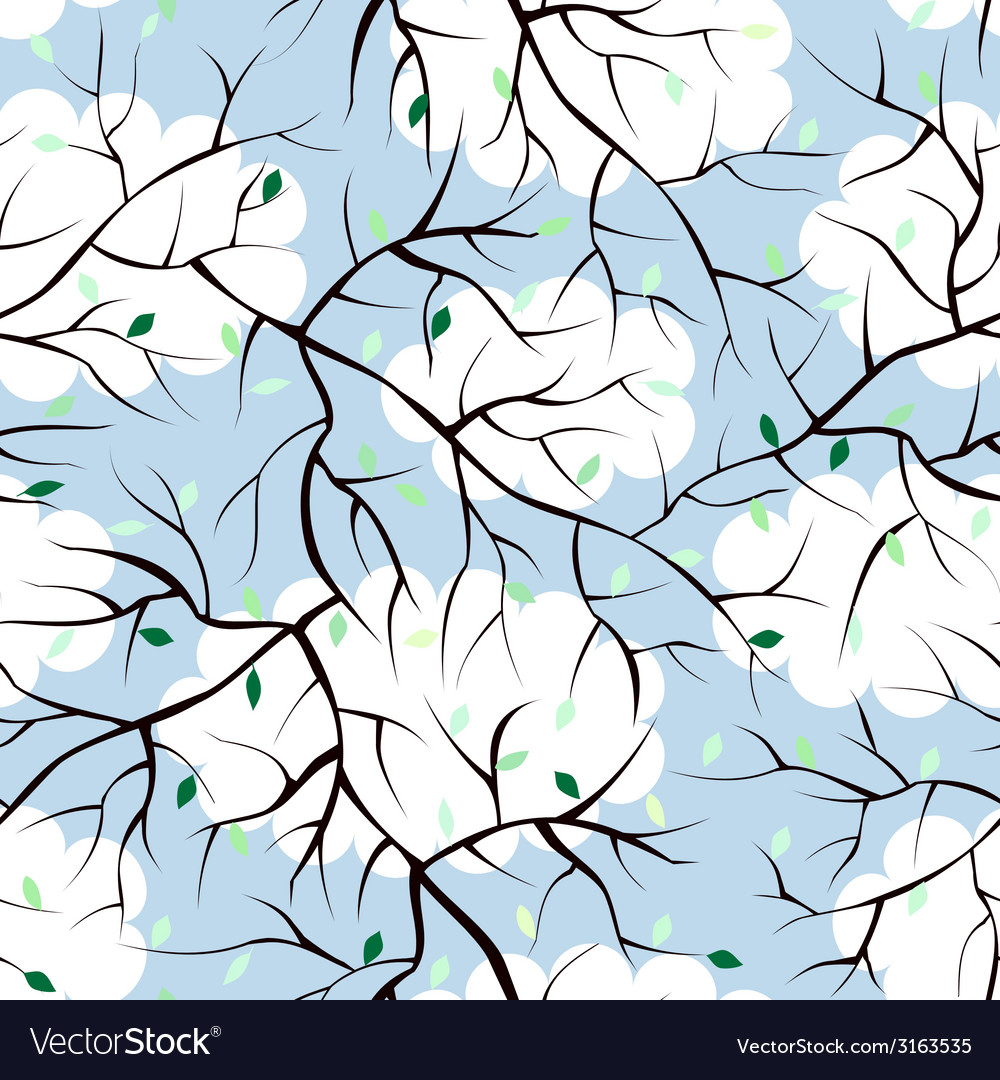 Pattern of sprigs vector | Price: 1 Credit (USD $1)