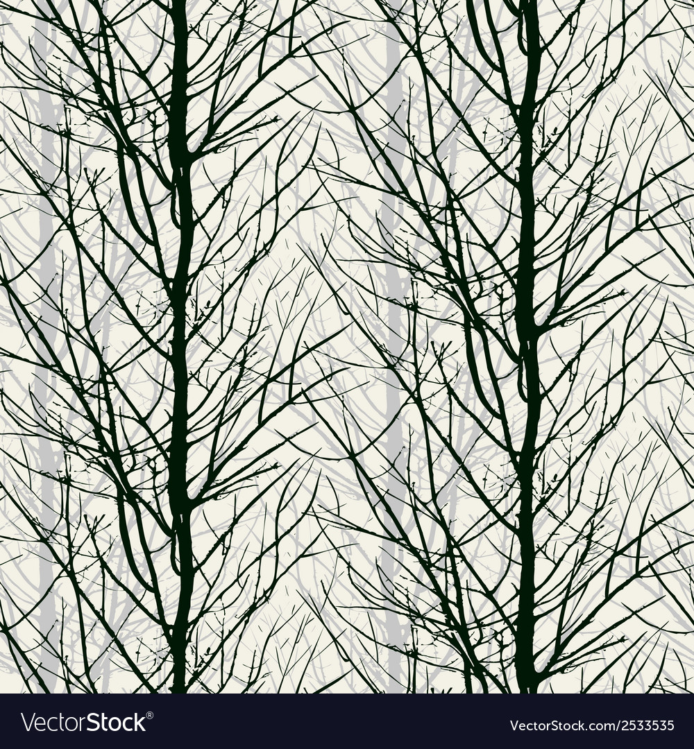 Pattern with trees silhouettes in black vector | Price: 1 Credit (USD $1)